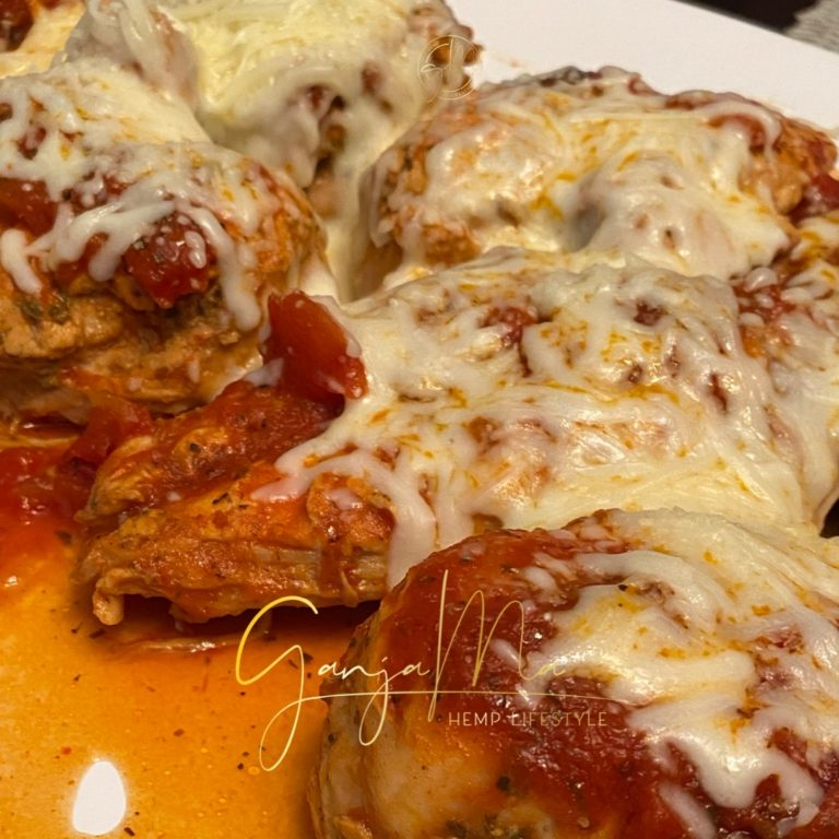 cannabis infused chicken parmesan